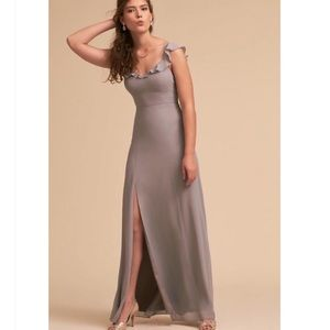 BHLDN gray Diana sweetheart bridesmaid dress